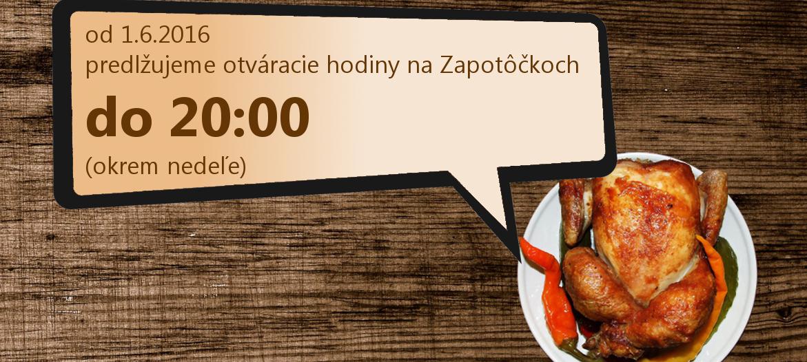 OD 1.6. otvorené do 20:00
