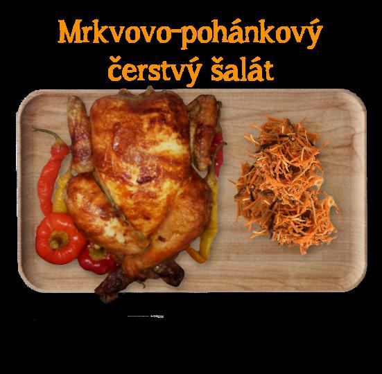 Zdravá a fit kombinácia na obed. Grilované kura + mrkvovo-pohánkový šalát